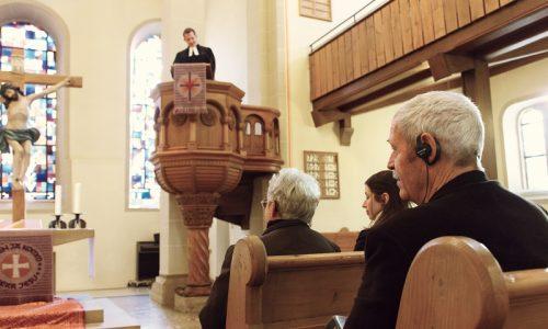 Kirche mit Induktionsschleife